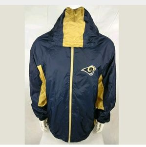 REEBOK NFL L.A RAMS Windbreaker Jacket Size Large